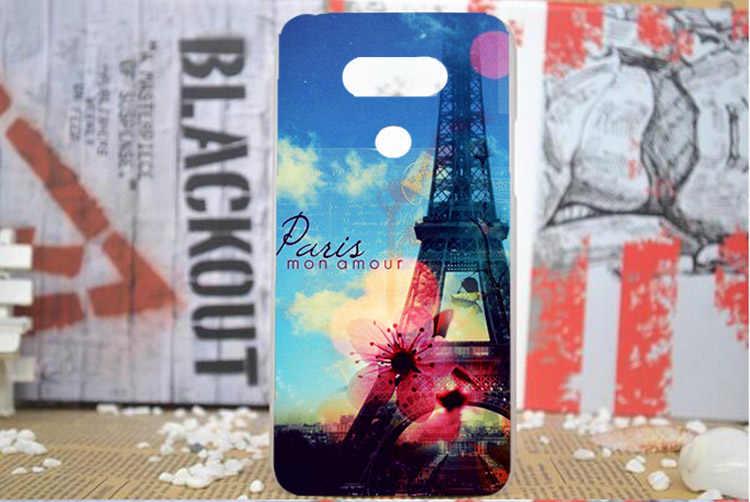 Para Lg g5 caso cubierta pintura de Diy tigre león búho Rosa torres Eiffel caso duro de la PC para LG G5 H830 H850 cubierta del teléfono envío gratis