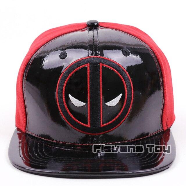 876b0c4aabc53 Moda genial Marvel x-men Deadpool Snapback gorras de cuero y algodón gorra  de béisbol