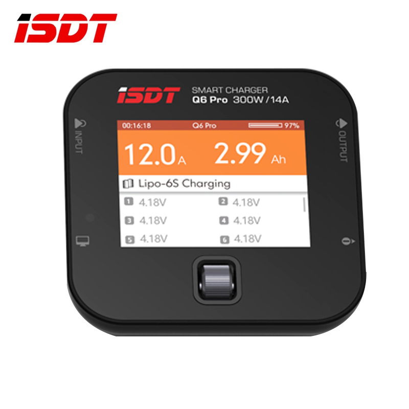 In Stock ISDT Q6 Pro BattGo 300W 14A Pocket Lipo Battery Balance Charger Smart Digital Charger For RC Models DIY Spare Part t690ac pro hm 90w built in power balance charger