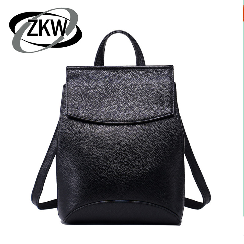ZKW 100% Echtes Leder Mode Reisetaschen Für Frauen 2019 New Korean Leisure Echt Leder Rucksack