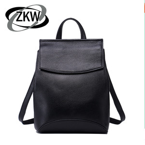 ZKW 100% Genuine Leather Fashion Travel Bags For Women 2019 New Korean Leisure Real Leather Backpack