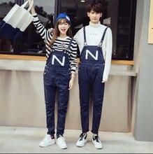 New 2015 Mens Straight Leg Fashion Male Cotton Jumpsuit Bib Overalls Jeans Pants Trousers Mens Clothing Plus Size M-2XL
