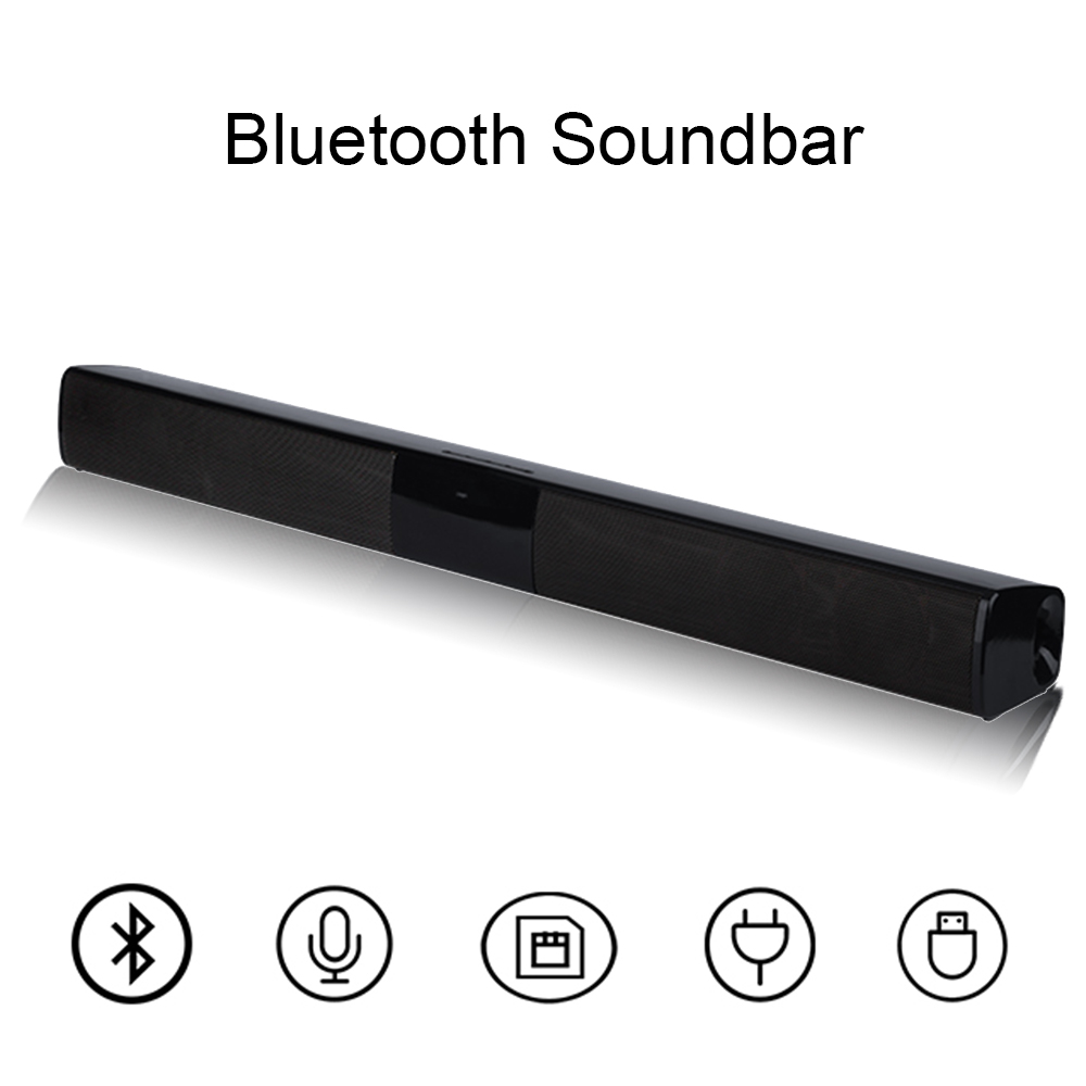 New Wireless Bluetooth Column Soundbar Stereo Speaker Powerful TV Home Theater 2.0A Built-in Battery Sound Bar TF USB Sound Bar цена