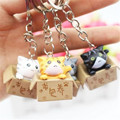 Lucky Cats Keyring Chi's Cat Keyring Keychain Car Key Ring Chain Cute Gift 1pc