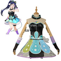 Love Live Sunshine Aqours Kanan Matsuura Cyber Video Games Tee Tube Top Dress Uniform Outfit Anime Cosplay Costumes