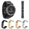 Faixas de relógio de Metal Em Aço Inoxidável Relógio De Pulso Banda Strap para Garmin Fenix 3/HR Faixa De Relógio de Substituição Com Ferramentas Pulseiras de relógio