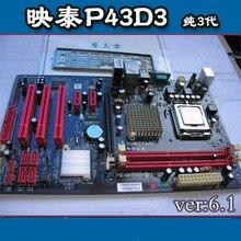 P43d3 LGA ddr3 775 needle pure three generations of Desktop motherboard deluxe board 0812 4g