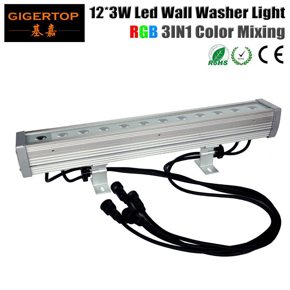 TIPTOP 12*3W 3in1 Tricolor Led Wall Washer Outdoor DMX Mode,Led Wall Washer RGB,3/7Channel 90V-240V Building Wall Flood Washing