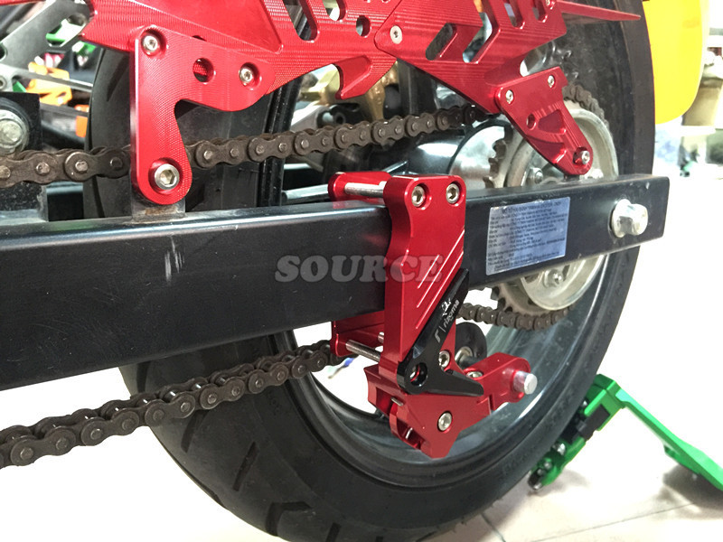 New Black Adjustable Aluminum Chain Tensioner Bolt on Roller Motorcycle Chopper ATV Dirt Bike Universal fit most motorcycle universal motorcycle chain tensioner bolt on roller chopper atv dirt street bike for kawasaki er 6f er 6n ninja 650r 400r 300