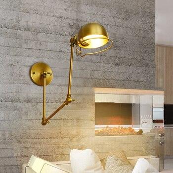 صناعة الأمريكية الرجعية جدار مصباح الإبداعية التوسع طويلة الذراع سوينغ الطعام غرفة القراءة السرير الجدار مصباح