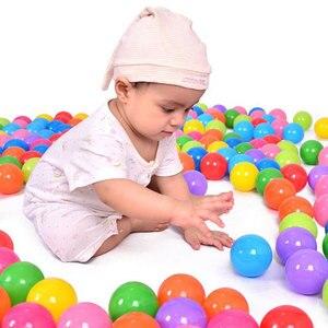 Image 3 - 100 قطعة/الوحدة صديقة للبيئة الملونة الكرة لينة البلاستيك المحيط الكرة مضحك طفل طفل السباحة حفرة لعبة المياه بركة المحيط موجة الكرة ضياء 5.5 سنتيمتر