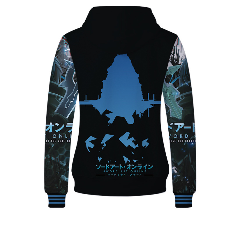 Fans Wear 2019 SAO Unisex Hoodies for Fans Anime Gaming Sword Art Online 3D Print Pullover Sweatshirt Hoodie Kirito Asuna Print in Hoodies amp Sweatshirts from Men 39 s Clothing