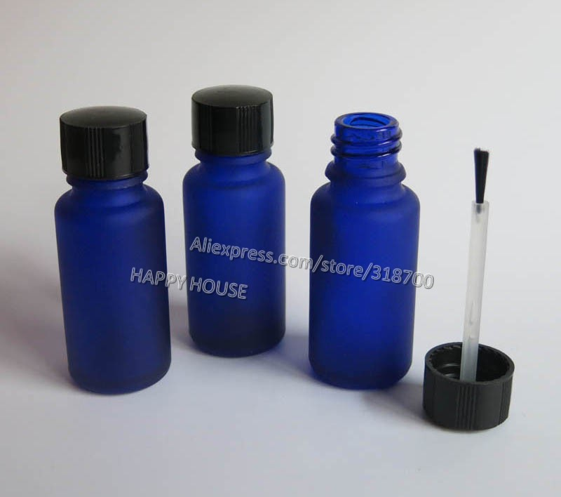 360 x 15ml Frost Empty Nail polish Bottle,15cc Frost Blue Glass Nail Polish Container, Cosmetic Packaging