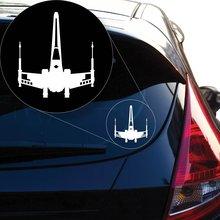 Starwars Jedi XWing Vinyl Decal Sticker # 858 (4 x 3.5, White)....