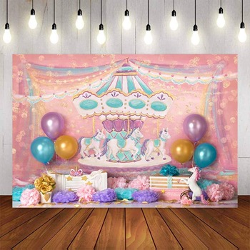 photography backdrop birthday Party balloon colorful ice cream Dessert table Background photobooth photocall photo studio - discount item  43% OFF Camera & Photo
