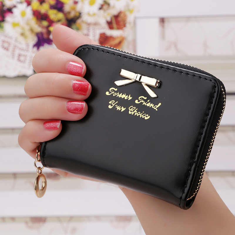 Wallet Women Fashion bow Purse Female Wallet leather pu multifunction purse small money bag coin pocket Wallet Top Quality