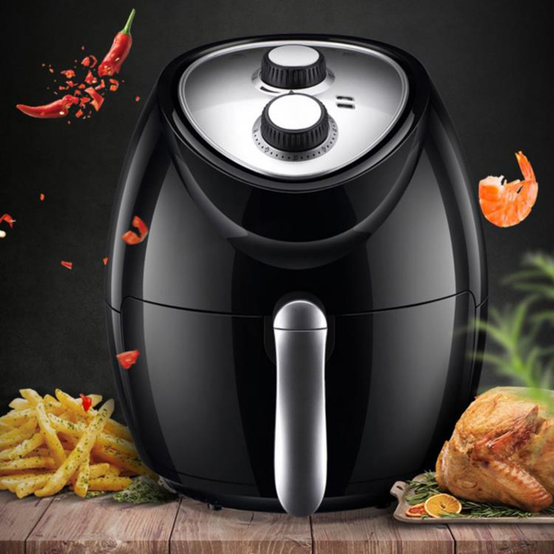 New air frying pan household 4.8L Large capacity french fries machine Electric Frying PanNew air frying pan household 4.8L Large capacity french fries machine Electric Frying Pan