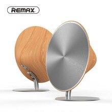 Remax Беспроводная колонка Bluetooth Ретро деревянная настольная Поддержка NFC сенсорная поверхность сабвуфер домашний аудио для телефона книжная полка для телефона