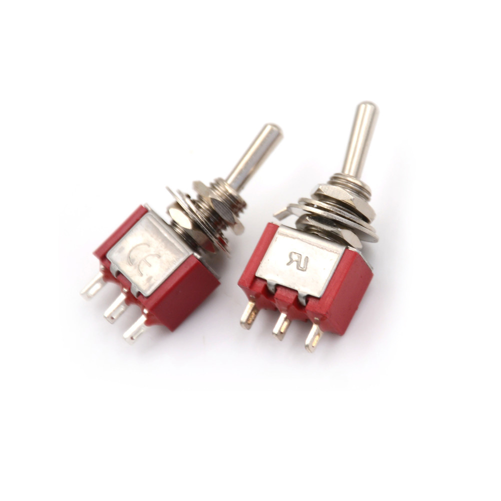 2pcs Lot Red 3 Pin On Off Position Spdt Mini Momentary Toggle Push Button Onoff Soft Latch Circuits Battery Powered Touch Switch 2a 250vac 5a 120vac Low Price In Switches From Lights Lighting