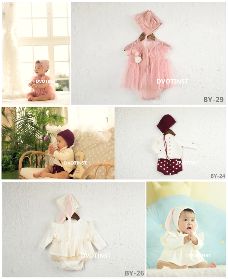 Dvotinst Baby Girls Photography Props Cute Lace Outfits Dress Clothes Set 3-12M Fotografia Accessory Studio Shoots Photo PropsDvotinst Baby Girls Photography Props Cute Lace Outfits Dress Clothes Set 3-12M Fotografia Accessory Studio Shoots Photo Props