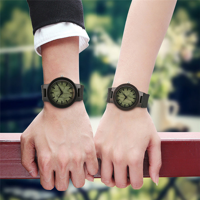 Wooden Lover Quartz Watches Woman Man Genuine Leather Band Couple Watch Anniversary Gifts 2