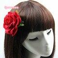 Beige Blue Violate 7CM Velvet Rose Hairpin Brooch 11 Colors Fdashion Women Rose Hair Clip Beach Wedding Headwear Hair Accessorie