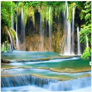 Beibehang Painting Background Waterfall Wall Landscape Three-Dimensional Non-Woven