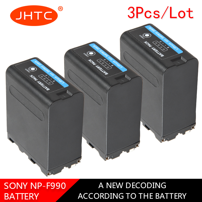 JHTC 3pc NP-F990 NP F990 8800mAh Camera Battery For Sony Camcorder HXR-MC1500C NEX-EA50 DSR-PD198P HVR-Z7C NX3 5 LED Video LightJHTC 3pc NP-F990 NP F990 8800mAh Camera Battery For Sony Camcorder HXR-MC1500C NEX-EA50 DSR-PD198P HVR-Z7C NX3 5 LED Video Light