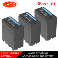 JHTC 3pc NP F990 NP F990 8800mAh Camera Battery For Sony Camcorder HXR MC1500C NEX EA50 DSR PD198P HVR Z7C NX3 5 LED Video Light