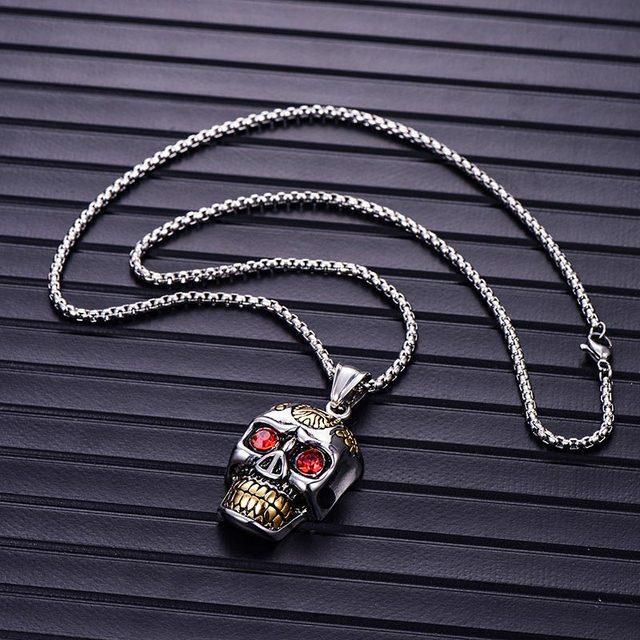 Skull Skeleton Pendant Necklaces