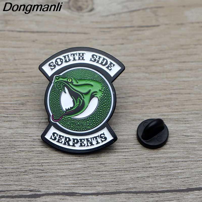 L3515 RIVERDALE Enamel Pin Brooches Cartoon Creative Metal Brooch Pins Denim Hat Badge Collar Jewelry 1pcs