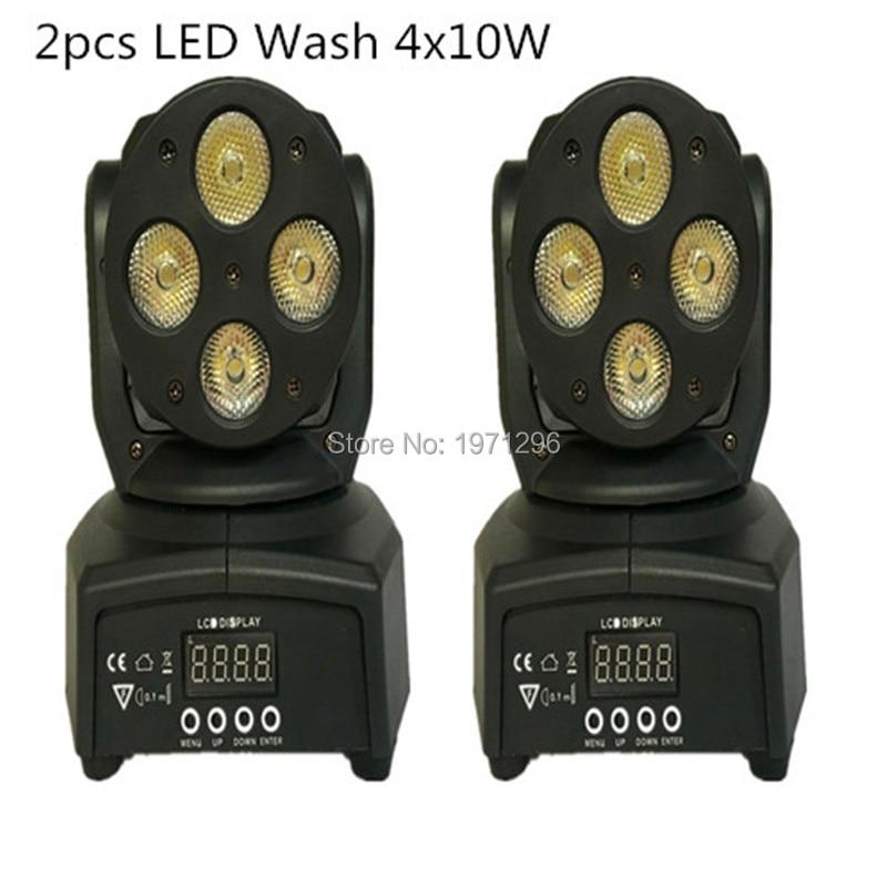 ФОТО 2pcs/lot Fast Shipping LED Moving Head Mini wash 4x10w RGBW Quad with advanced 9/12 channels Free Shipping