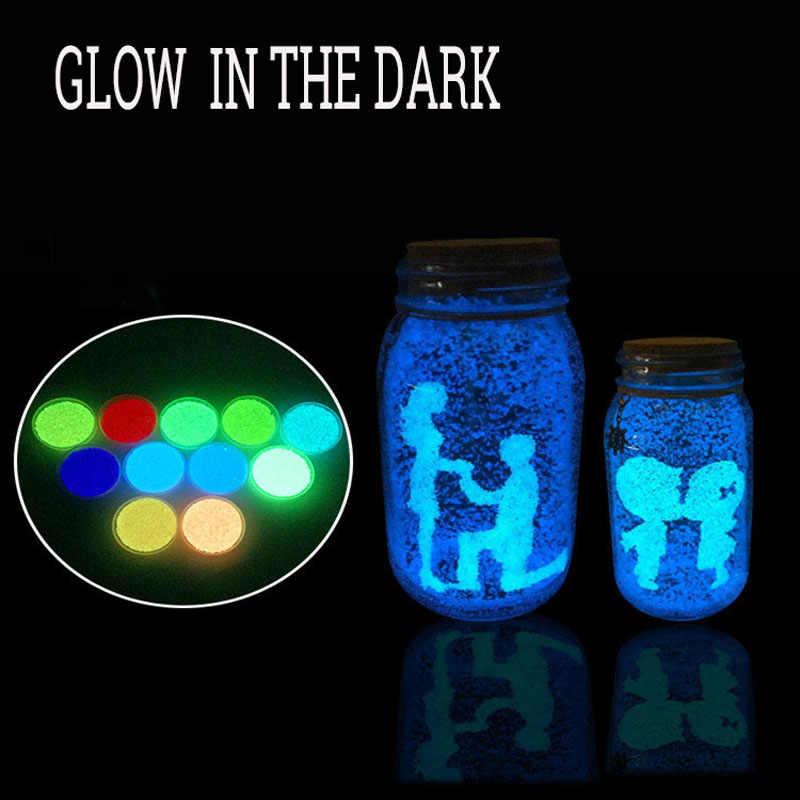 1 сумка светится в темноте легкие серьги люминесцентные игрушки для детей частицы яркий песок синий флуоресцентные игрушки для DIY желая бутылка