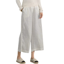 9db21b5a20 Kobiety Bawełniana Pościel Szerokie Spodnie Nogi W Pasie Jednolity  Streetwear Lato Pantalon Duża Femme Dorywczo 5XL