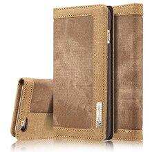 Бренд caseme для отдыха в стиле ретро холст бумажник телефон чехол для Apple iPhone 7 плюс 5 5S I6 6 s 6 S Plus Flip защиты ковбой Случаи Обложка