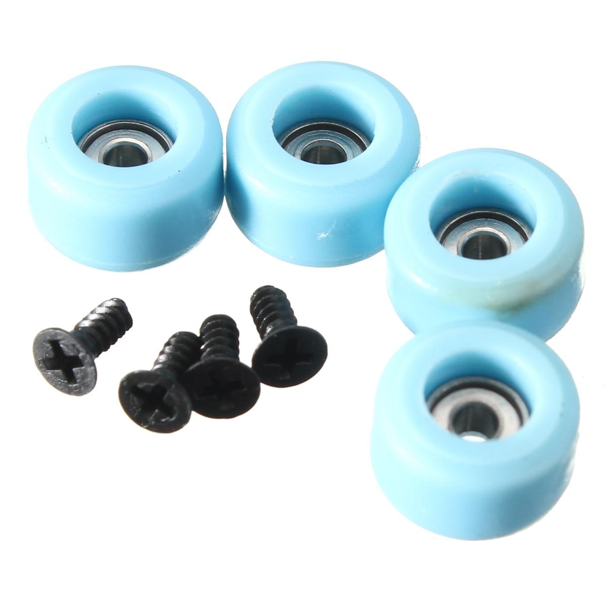 JIMITU 4 Pcs/Set Professional Urethane CNC Bearing Wheels For Wooden Fingerboard