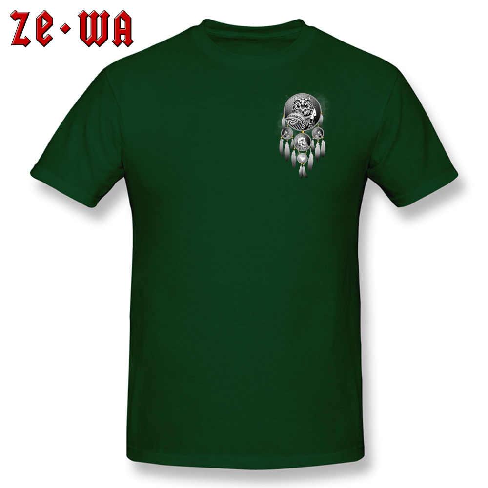 לוכד חלומות ינשוף חולצת טי איש קופונים להביא את סיוט חולצות Crew Neck כותנה Mens חולצות T חולצה קצר שרוול קיץ חולצות