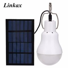 New 15W 130LM Solar Lamp Powered Portable Led Bulb Light Solar Led Lighting Solar Panel Camp Tent Night Fishing Light(China)