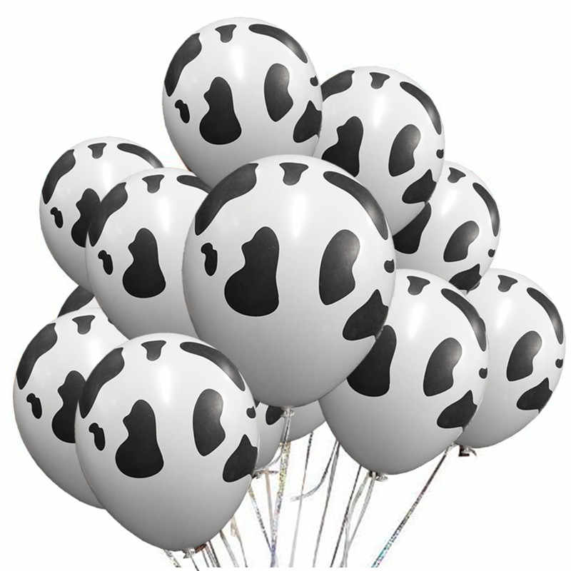 50 pcs/lot cartoon animals globos cow print latex balloons for farm theme birthday party decorations baby shower supplies