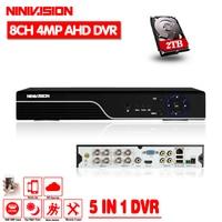 Security CCTV DVR 8CH AHD 5MP 4MP 3MP 1080P 5 IN 1 DVR H 264 Hybrid