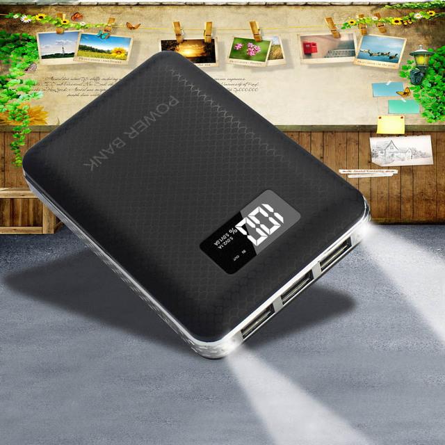 DCAE Banco Universal de la Energía 10000 mAh 3 Puerto USB Cargador Portátil de Batería Externa para el Teléfono Móvil de la Tableta