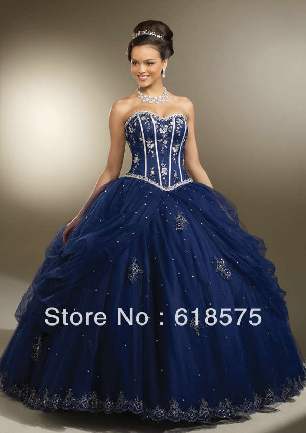 Aliexpress.com : Buy Sweetheart Embroidery Bodice Quinceanera ...