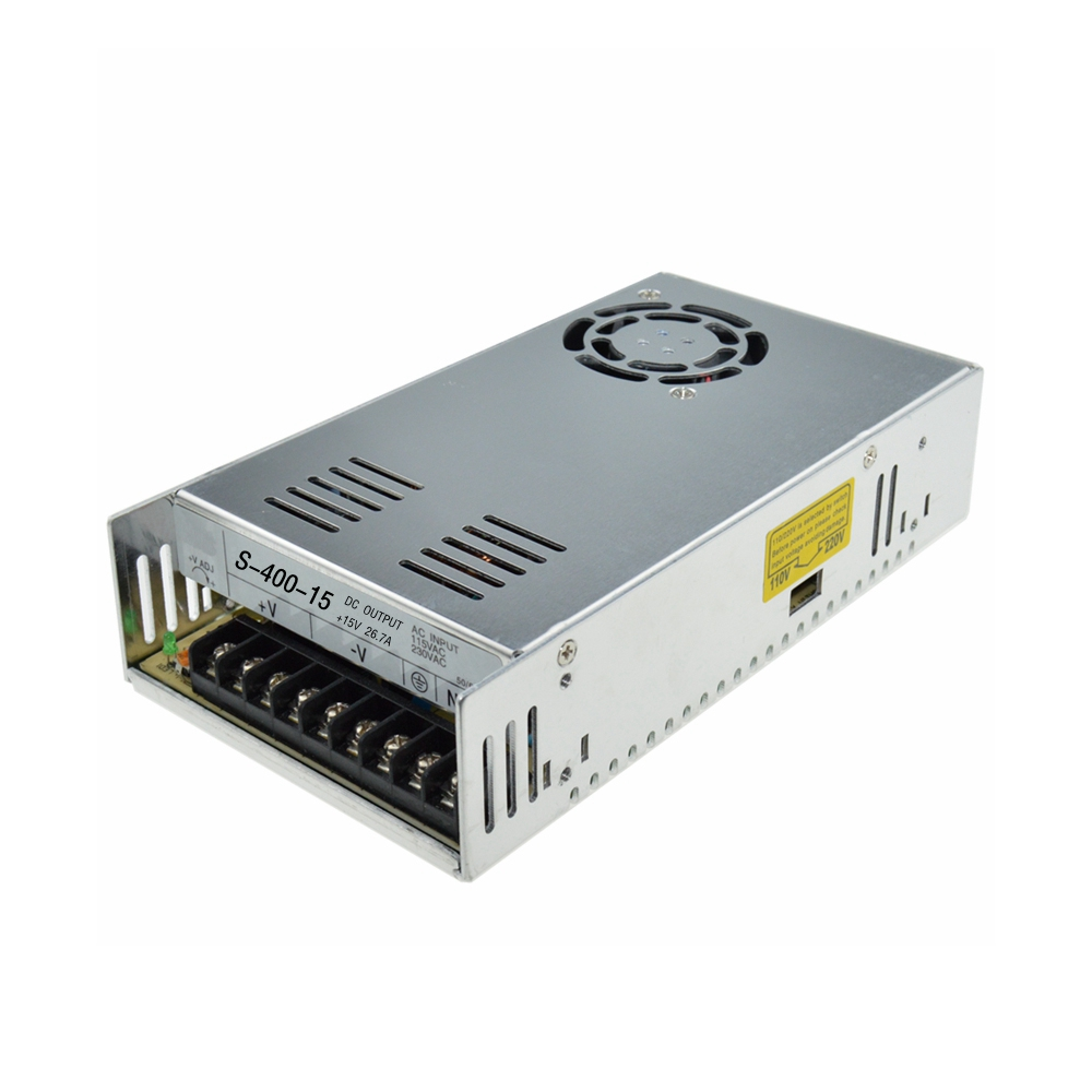 Led driver Single Output 400W 15V 26.7A ,Input ac 110v 220v to dc 15v Switching power supply unit for LED Strip light 400w 24v 16 7a single output adjustable ac 110v 220v to dc 24v switching power supply unit for led strip light