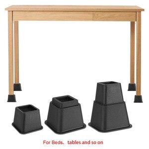 Image 2 - 8pcs מיטת משכימי סט כיסא ריהוט רגלי פיל ריהוט שולחן עץ רגל רצפת רגליים כיסוי מגן