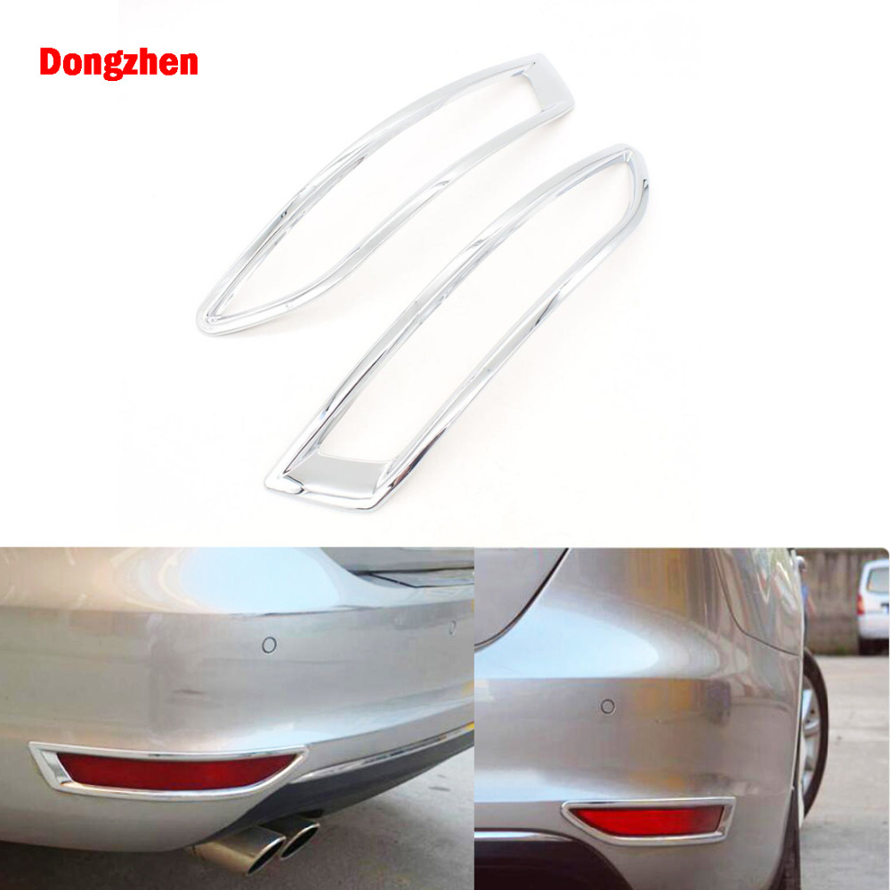 Dongzhen 2PCS Car Rear Fog Light Cover For VW Volkswagen Jetta MK6 2012 2013 2014 ABS Chrome Trim Auto Exterior Accessories