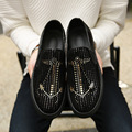 2017 moccasins men loafers luxury brand flats quality slip on casual shoes bling leather boat shoes souliers zapatillas XK122801