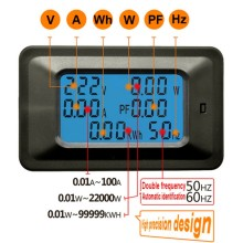 AC 5KW 85~250V Digital Voltage Meters indicator Power Energy Voltmeter Ammeter current Amps Volt wattmeter tester detector
