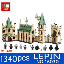 Lepin 16030 1340pcs Movie Series Harry Potter Hogwarts Castle Building Blocks Bricks Kits Compatible 4842 Toys Children Gifts(China)
