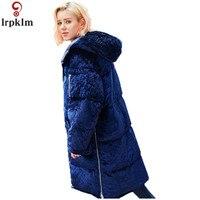 Бренд зимнее пуховое пальто 2017 с капюшоном Дамы Качественный хлопок одежда свободные толстые теплые кашемировое пальто Для женщин Подпушк