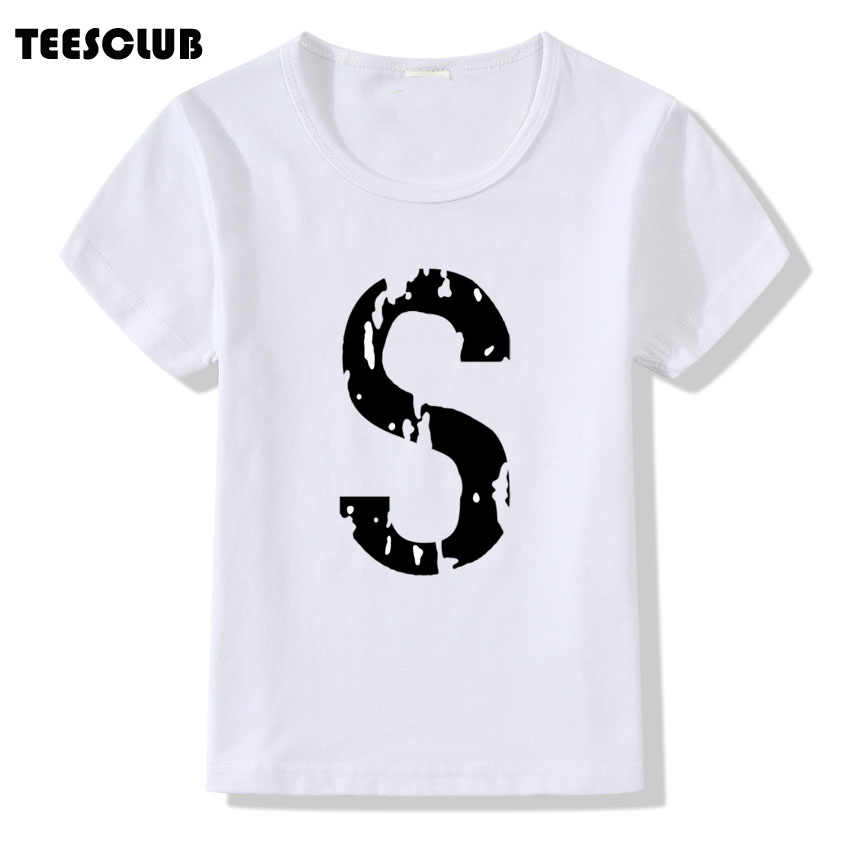 Baby Girls Short Sleeve T shirt Red Word R Printing T shirt Child Harajuku Riverdale Design Funny Tops Children Tee Shirts